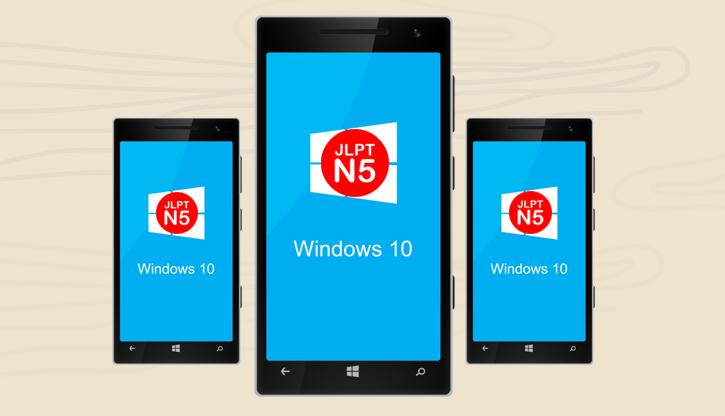 Học tiếng Nhật hiệu quả trên Windows Phone với ứng dụng học tiếng Nhật JLPT N5