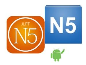 Cặp phần mềm học tiếng Nhật N5 cho hệ điều hành android có gần 100000 lượt tải