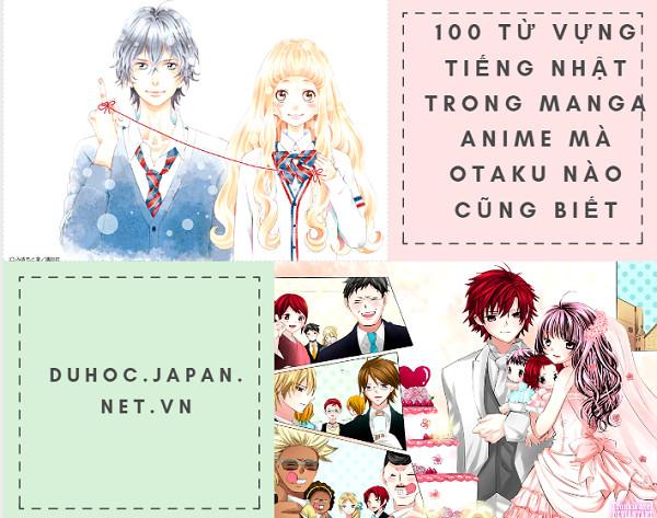 100 từ vựng tiếng Nhật trong Manga anime mà OTAKU nào cũng biết